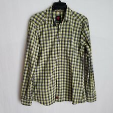 Strellson Mens Yellow Plaid Slim Fit Button Front L/S Casual Shirt Medium TP915