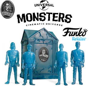 🔥Funko ReAction! Universal Monsters With Crypt Blue Glow Super 7 Action Figures