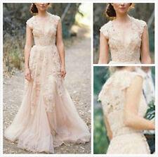 2017 Vintage-Spitze Wurfhülse Brautkleid eigene Hochzeitskleid Wedding Dress
