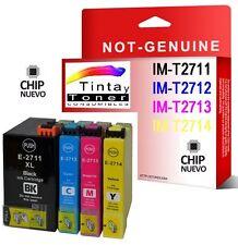 PACK 4 CARTUCHOS DE TINTA COMPATIBLE NON OEM T2711 EPSON 27XL RELOJ