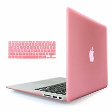 Rubberized Hard Cover Shell Case for Macbook Air Pro 13 15 + Keyboard Skin Cover