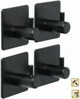 4 Packs Self Adhesive Hooks 3M Adhesive Bedrooms Heavy Duty Steel Walls Hangers