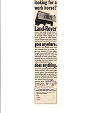 1962 LAND ROVER ~  ORIGINAL SMALLER CANADIAN AD