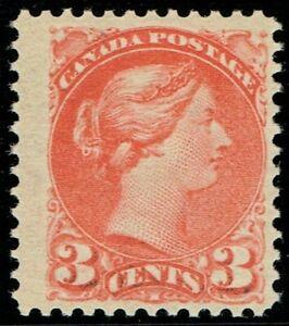 1889 Canada SG105 3c Bright Vermilion Lovely Colour Fine M/M Cat. £50.00