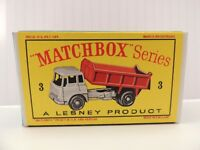 Matchbox Lesney No 3 Bedford Tipper Truck empty Repro  style D Box