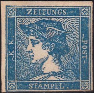 *PP1019 Lombardo Veneto Mercurio azzurro III tipo (3a) nuovo con gomma originale