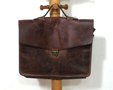 Leder Schultasche Aktentasche Glattleder Vintage O880