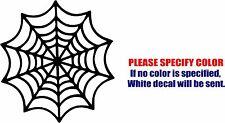 "Spiderweb Cobweb Graphic Die Cut decal sticker Car Truck Boat Window Bumper 6"""