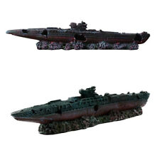 1pc Resin Boat Decorative Simulative Realistic Creative Wreck Boat for Fish Tank