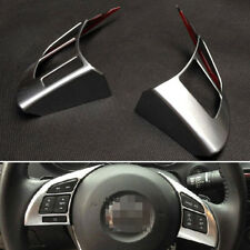 Interior 2 Pcs Matt Steering Wheel Cover Trim ABS For Mazda 6 Atenza 2014 2015