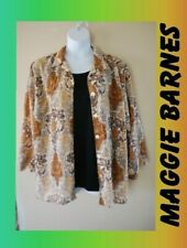 WOMEN'S PLUS SIZE 5X 30W LAYERED MAGGIE BARNES ** FALL BLOUSE CLOTHING