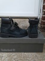 Timberland Black  6 Inch Classic 12709 Premium Boots Boys Kids Youth Size 13.5 M