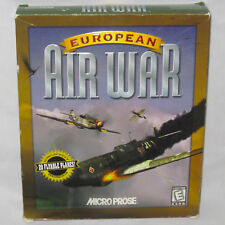 1998 European Air War Windows 95 CDRom Computer Game Microprose Flight Simulator
