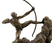 Bronzefigur - Herakles als Bogenschütze - signiert Juno