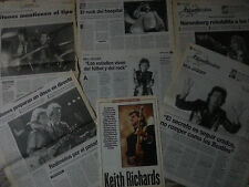 Rolling Stones Jagger great collection lot press magazine newspaper interviews