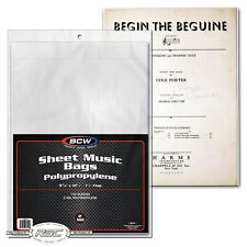 Case of 1000 BCW Sheet Music Size Archival 2 Mil Poly Bags Protectors Covers