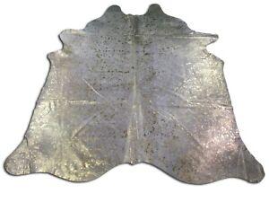 Metallic Gold Brazilian Cowhide Rug -New Gold Devore Cowhide Rug - Golden Rug