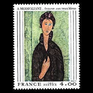 France 1980 - Painting by A. Modigliani Art - Sc 1693 MNH