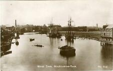 REAL PHOTO POSTCARD OF THE RIVER TEES, STOCKTON-ON-TEES, COUNTY DURHAM, PHOENIX