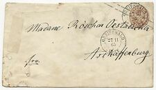 German States Prussia Mi #GAA17 Postal Stationery Cover 1865