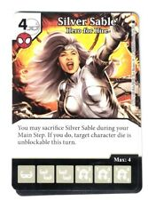 Marvel Dice Masters Spider-Man, Silver Sable Hero For Hire 67/142 Card & Die