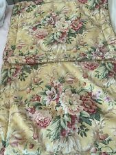 Croscill Pavilion Yellow Pink Floral 2 Standard Pillow Shams