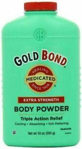 Gold Bond Body Powder Medicated Extra Strength 10 oz Each, Talc-Free
