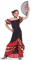 FLAMENCO GIRL CHILD HALLOWEEN COSTUME SIZE LARGE (12-14)