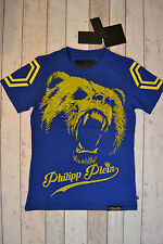 "BNWT PHILIPP PLEIN ROUND NECK SS ""FEEL"" BLUE & YELLOW BEAR T-SHIRT SIZE XL"