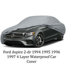 Ford Aspire 2-dr 1994 1995 1996 1997 4 Layer Waterproof Car Cover