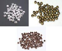 50 Perle Metal Couleur au Choix 4mm Brillant Creation bracelet bijoux collier