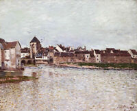 Bridge Alfred Sisley Fine Art Painting Reproduction Print on Canvas Giclee Small