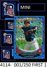 1-2013 BOWMAN CREAM OF THE CROP BLUE REFRACTOR RONNY RODRIGUEZ TIGERS 001/250