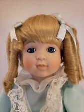 "Vintage 1989 Seymour Mann Connoisseur 15"" Porcelain Linda Doll w/ COA NIB"