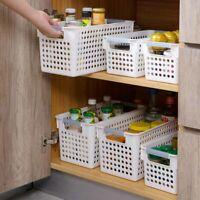 Plastic Desktop Kitchen Bathroom Storage Basket Box Container Case Organizer