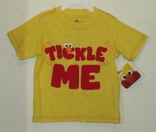 "New Boy's Yellow Sesame Street ELMO ""Tickle Me"" Embellished Shirt, Size  4T"