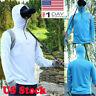 Mens Long Sleeves Tops Hoodie Sweatshirts Fishing Suit Zipper Blouse Outdoor