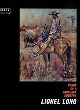 LIONEL LONG songs of a sunburnt country AUSTRALIA  NEAR MINT LP RARE COUNTRY
