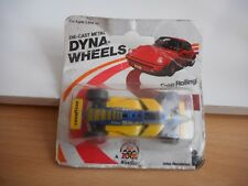 Zeetoys Dyna-wheels racing car in Yellow/Blue on Blister