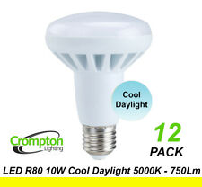 12x LED 10W Down Light Globes Bulb R80 Screw E27 Cool White Daylight 5000K 750Lm