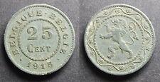 Belgique 25 centimes 1915 zinc