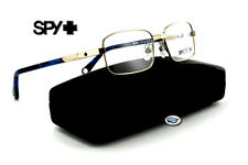 Spy Optic HUNTER Rx Eyeglasses | Brushed Chrome with Navy / Clear Demo Lens