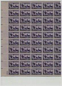 #957 3₵ WISCONSIN STATEHOOD 100th ANNIVERSARY COMPLETE MNH SHEET OF 50 STAMPS