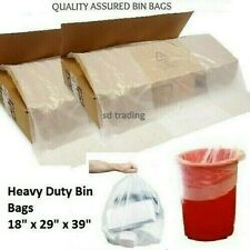 More details for 25 x clear bin liners bags refuse sacks heavy duty rubbish waste bags 160g