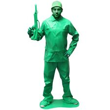 Mens Toy Soldier Fancy Dress Costume Military Army Outfit Saving Private Morph