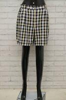 Pantaloncino CONTE OF FLORENCE Donna Taglia 40 Pantalone Shorts Bermuda A Quadri