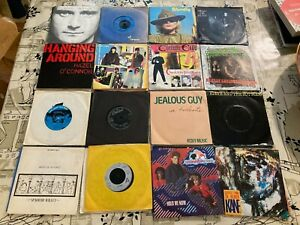"""100 Pop & Rock 45s 7"""" singles, 70s/80s lots of classics, great condition"""