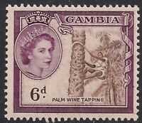 Gambia 1953 - 59 QE2 6d Palm Wine Tapping Umm SG 177 ( B1200 )