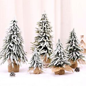 Mini Sisal Christmas Tree Small Pine Tree Table Desk Xmas Cedar Decor 4 Size UK