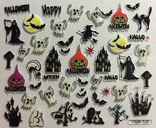 Nail Art 3D Decal Stickers Halloween Ghost Haunted Mansion Reaper Bats YGA138